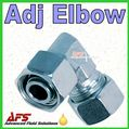 38S Adjustable Equal Elbow Tube Coupling Union (6mm Compression Pipe Fitting)